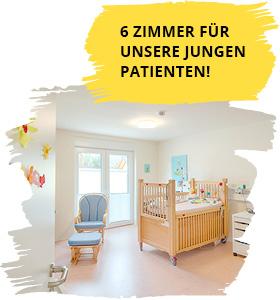 6 Zimmer für unsere jungen Patienten